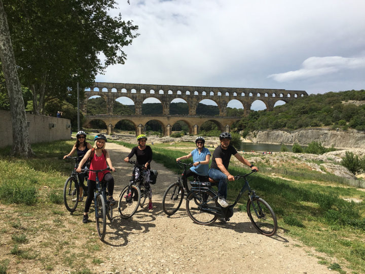 Balade à Vélo sur la voie verte de Beaucaire au Pont du Gard