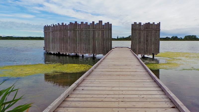 Point d'observation des étangs sur le site de la Marette.