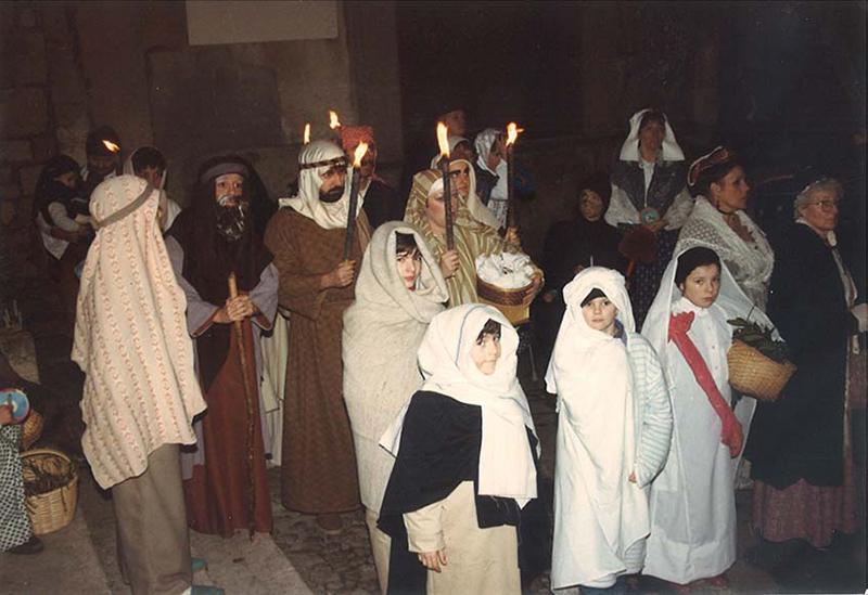 Dès le début, un groupe de palestiniens évoquait l'origine de Noël - ©Jean-Pierre VIOLET
