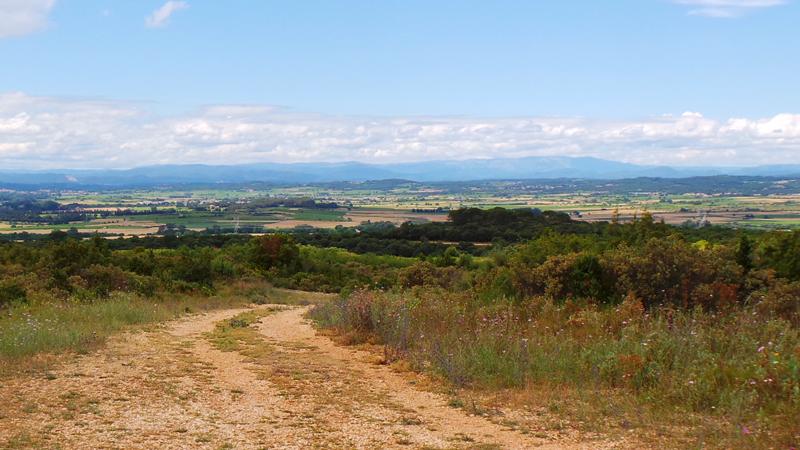 Les sentiers de randonnées dans la garrigue offre des vues exceptionnelles