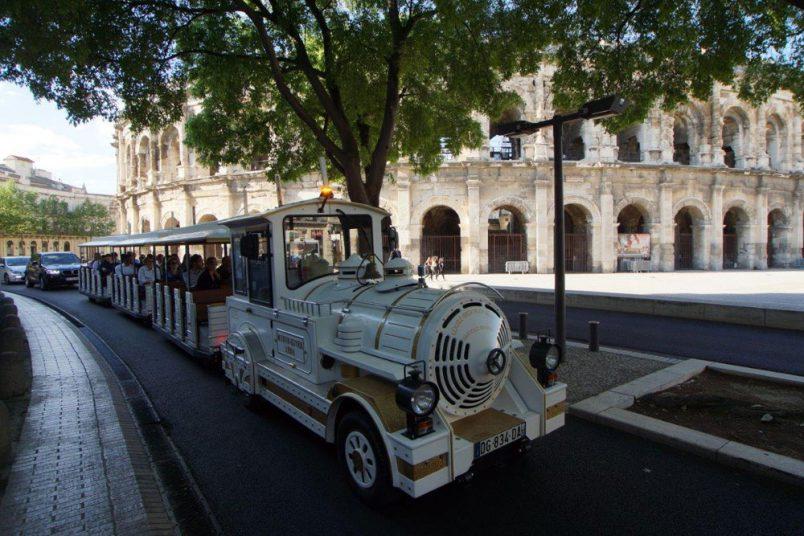 Visite de Nîmes en petit train
