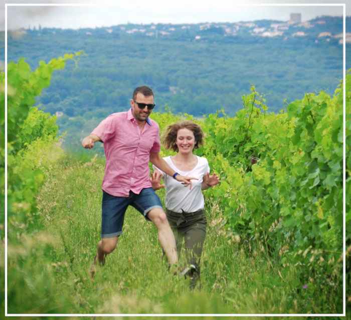Dans les vignes...