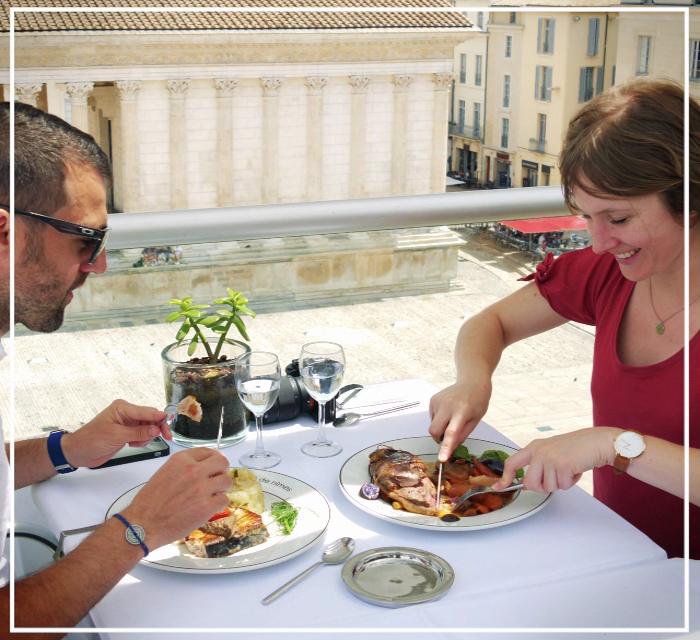 """Déjeuner au """"Ciel de Nîmes"""""""